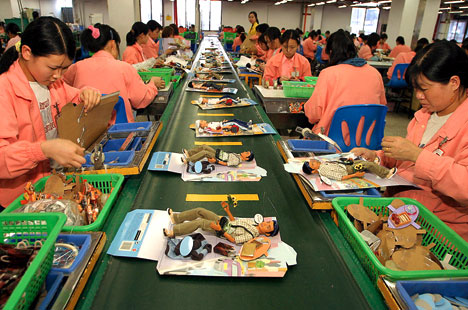 Chinese toy factory
