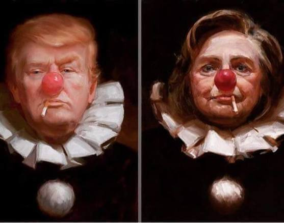 Trump_Hillary_clowns_campaign_tinified